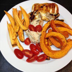 Sweet Potatoes, pumpkin, hummus, haloumi - craftifymylove.com