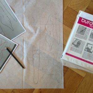 copying the pattern with tracing paper