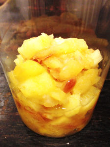 The image shows a homemade apple sauce that is also vegan and low-calorie by Craftify My Love