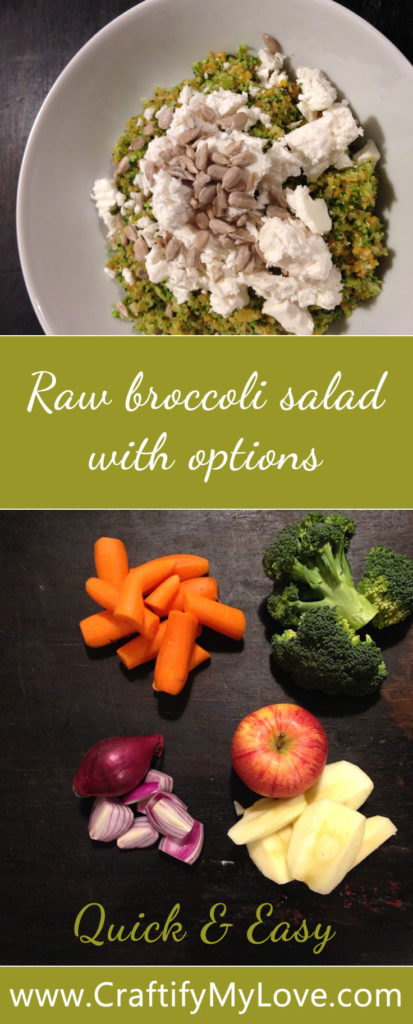 recipe for a Raw Broccoli Salad - lean and clean eating by Habiba from CraftifyMyLove.com