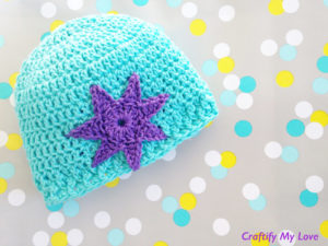 Image shows crocheted newborn hat that are very cute and easy to make.