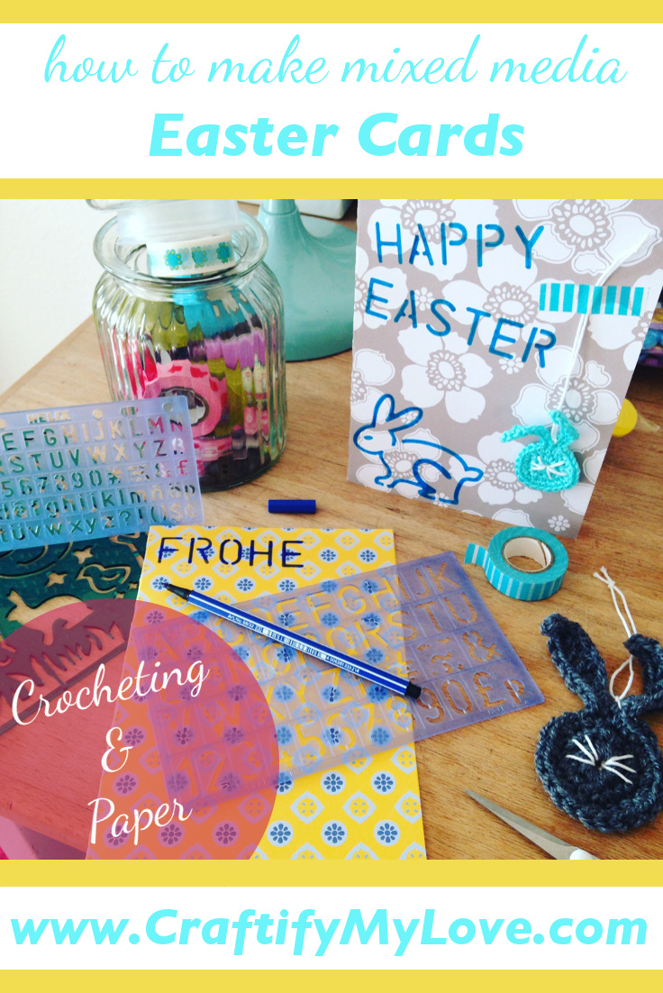 Pinterest DIY Mixed Media Easter Cards Crocheting And Paper by Craftify My Love