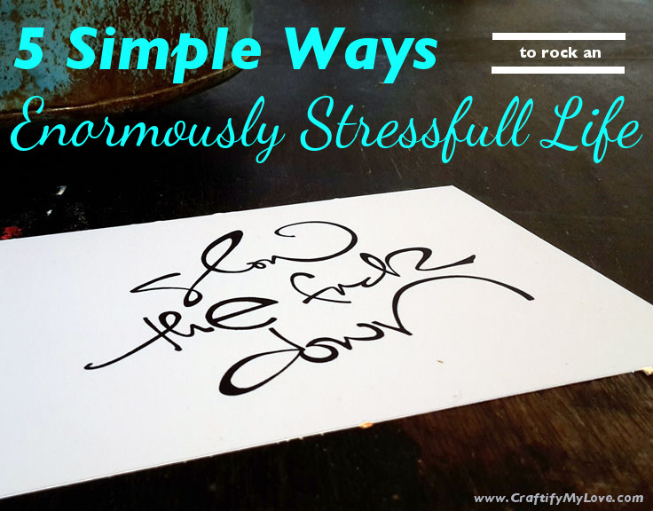 5 Tips for a stressful life by Habiba from Craftify My Love. Slow the fuck down. Hand lettered art print by This Unscripted Life.