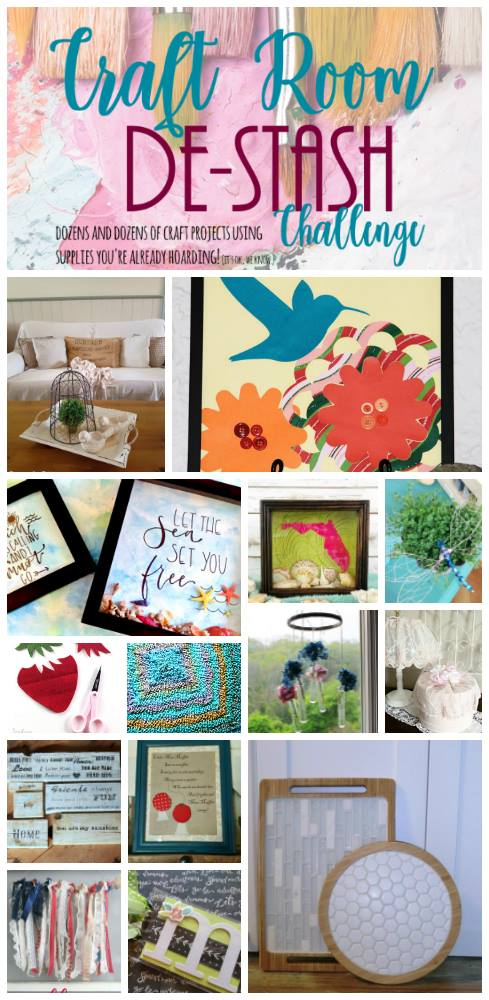 Craft Room De-Stash challenge June 2017 by c'mon get crafty