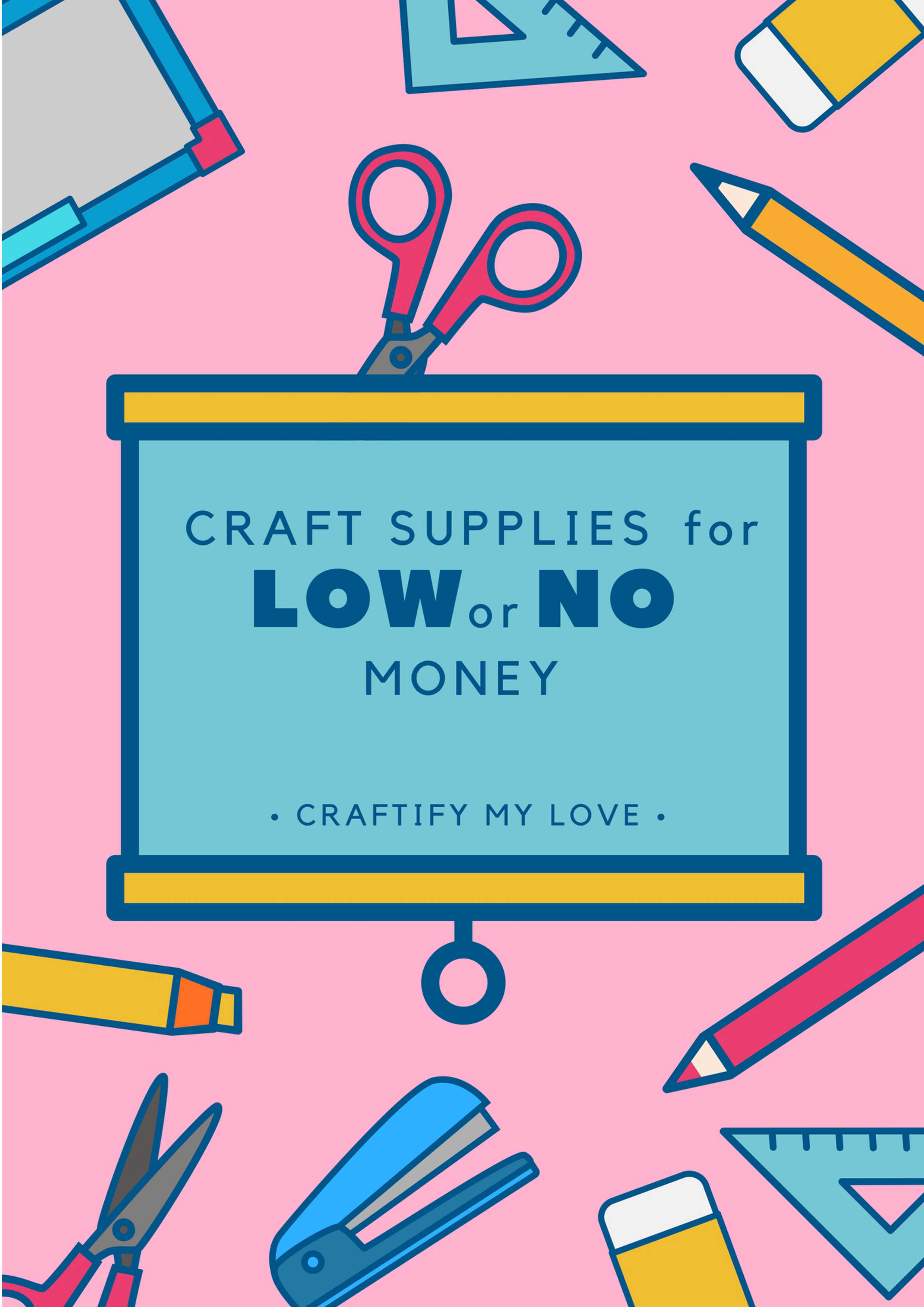 It's super easy to get ahold of craft supplies for just a view dollars or even for free. You only need to know where to look for them! Habiba shares in her free guide exactly that knowledge. Go and download it for free today & start saving money on your creative endeavors. #freecraftsupplies #freeebook #savingmoney #frugalcrafts