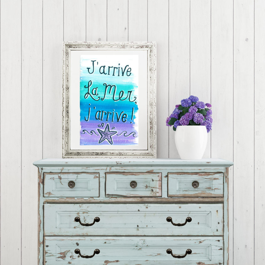 collage-free-printable-watercolor-ocean-beach-love-french-by-CraftifyMyLove.com