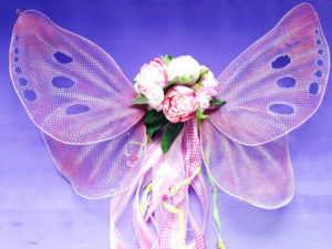 handmade DIY butterfly or fairy wings in pink and lavender