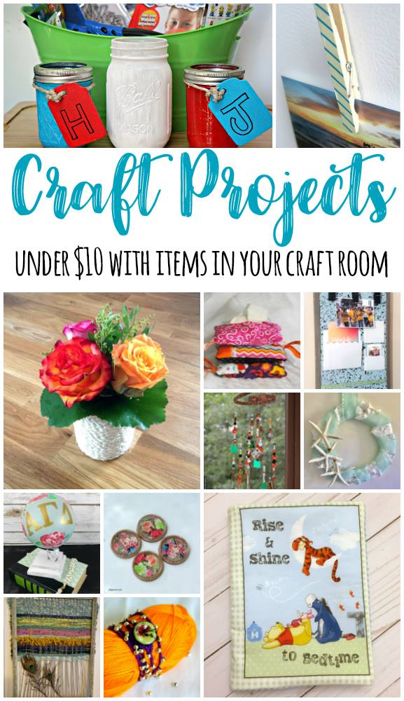 Craft projects under 10 dollar with items from your craft room