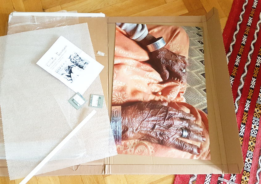 unboxing my new wall art an art print from Saal Digital