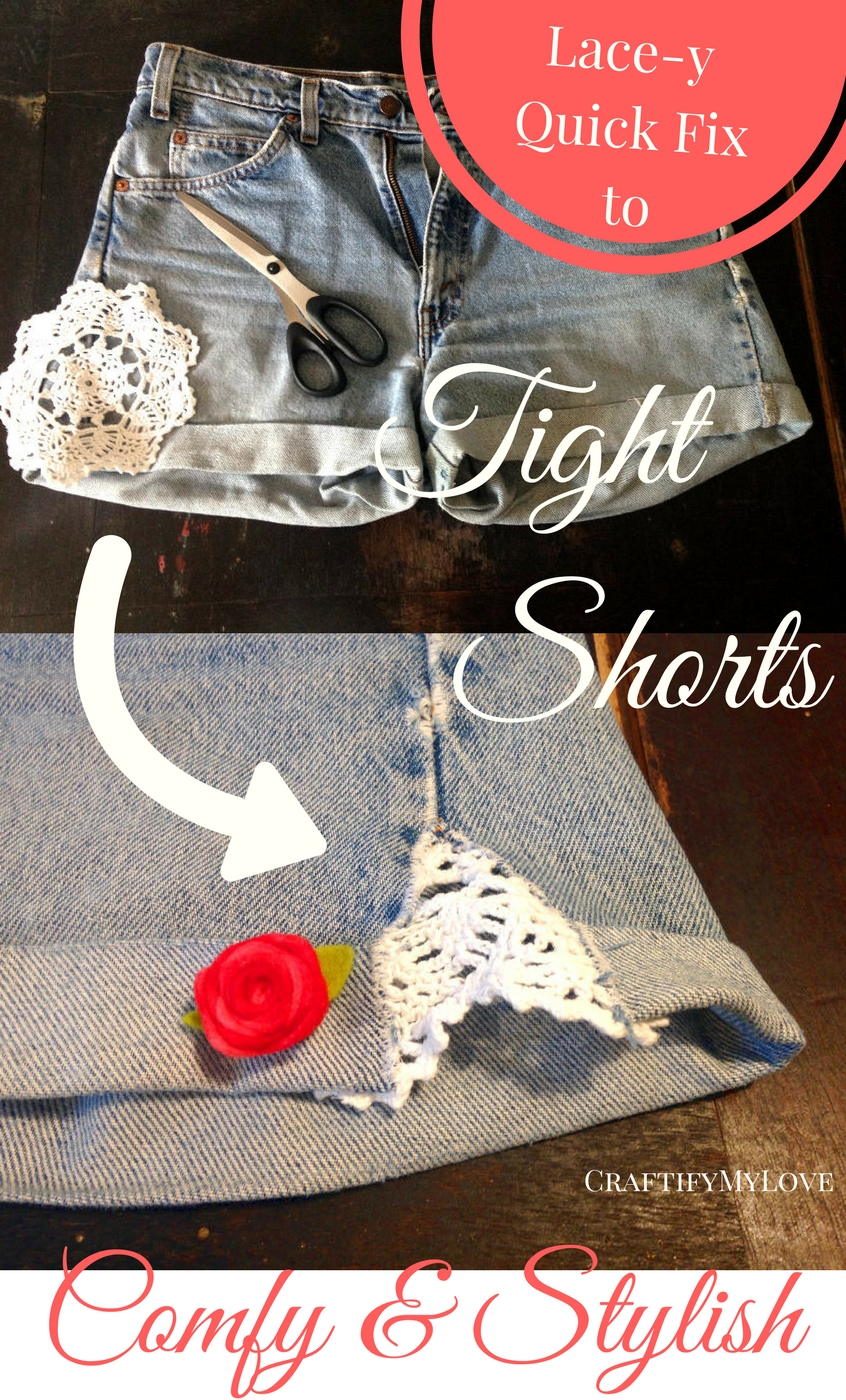Curvy Body? Too tight shorts? This quick fix will help you out ladies. Click and learn how it's done...