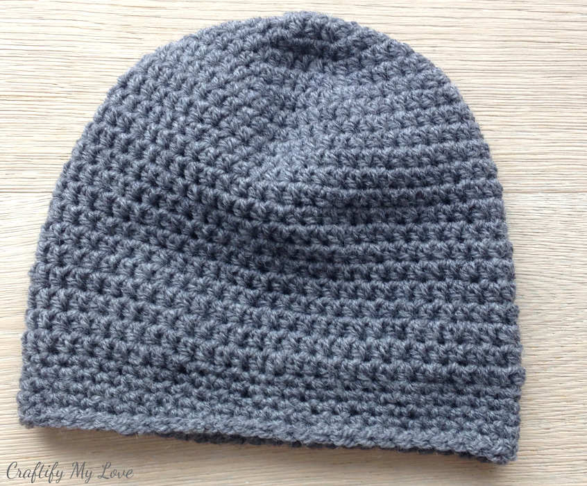 Basic Men\'s Hat - Free Crocheting Pattern | Craftify My Love