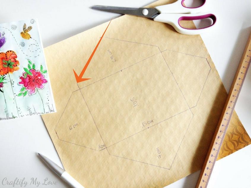 cut along outer edges of diy envelope