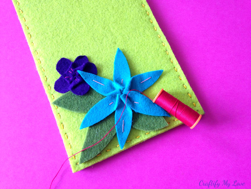 cut leaves and arrange on diy tablet case to your liking