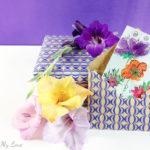 DIY handmade envelope and water color greeting card