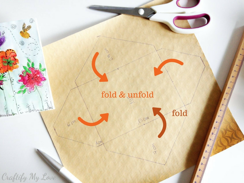 fold and unfold flaps of diy envelope