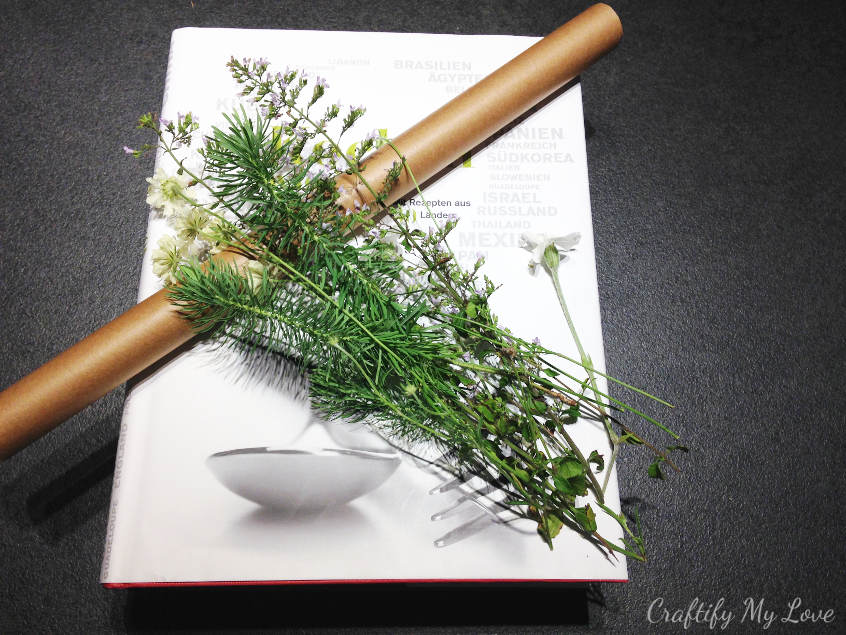 supplies needed to press flowers to preserve them for a long time
