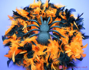Feather Boa Halloween Wreath from The Inspiration Vault
