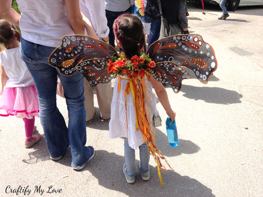 kids fairy costume that can work as butterfly costume, too