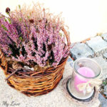 easy DIY heather fall basket arrangement