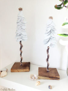 Christmas DIY project paper Christmas Tree