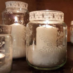 DIY snowflake candle holder recycled jars project