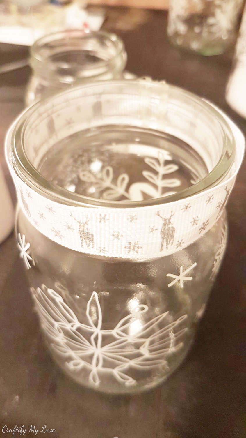 DIY winter decoration project snowflakes