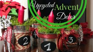 Upcycled advent decor tin cans