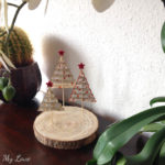 Paper Christmas tree decoration using the accordion fold method