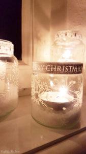 fairy lights snowflake candle holder DIY