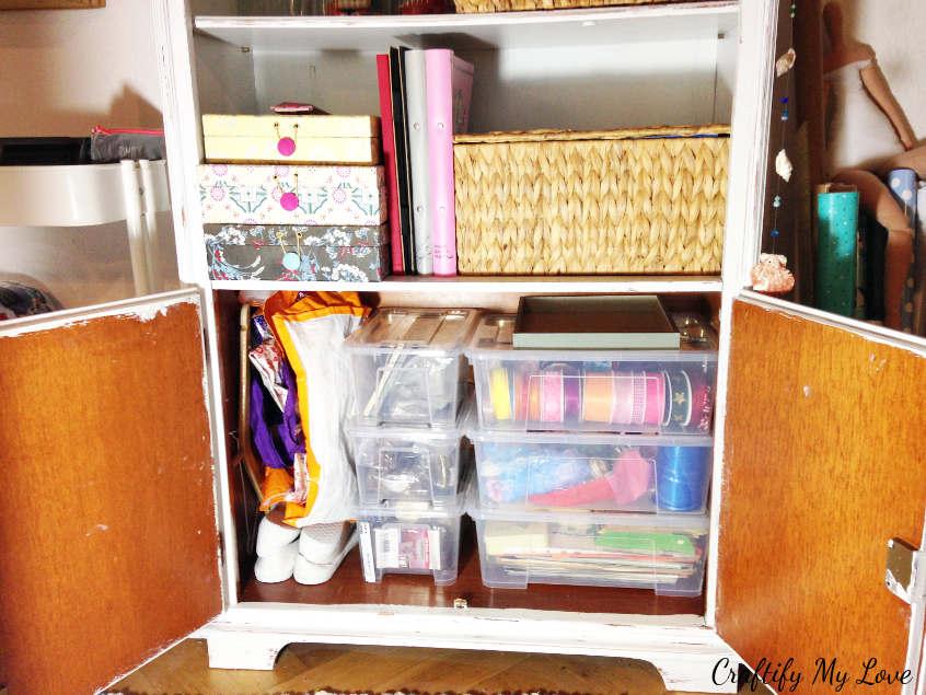 cupboard reorganisation using IKEA SAMLA for more efficiency in your craft supplies storage