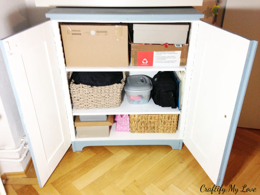 create new storage for your craft room organization project using boxes you already have at home