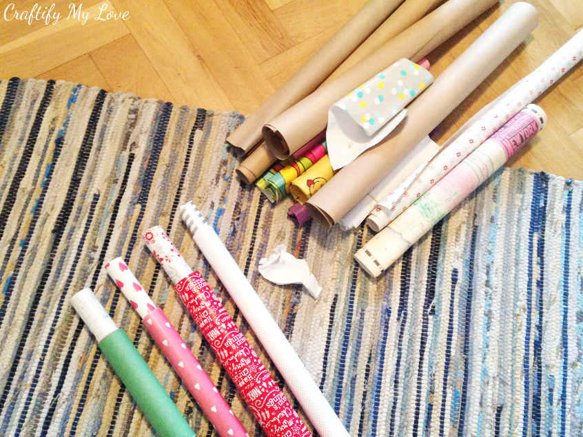 purging craft supplies. Organization hack for wrapping paper
