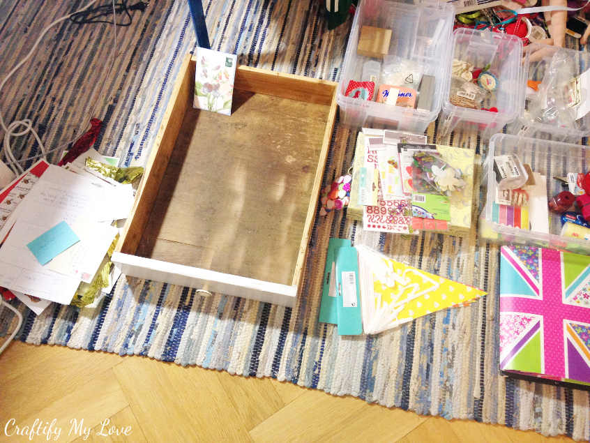 reorganising that junk drawer and finding new organization solutions for my craft room
