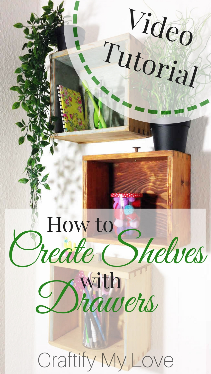 Learn how to create unique shelves by repurposing old drawers. Click for step-by-step instructions including video tutorial | #upcycling #repurposing #diy #shelvesfromdrawers #roadsidefind #fromtrashtotreasure