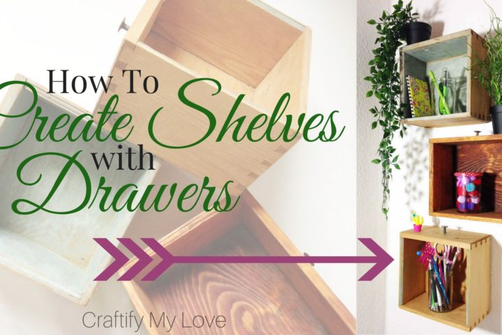 How to create shelves with drawers
