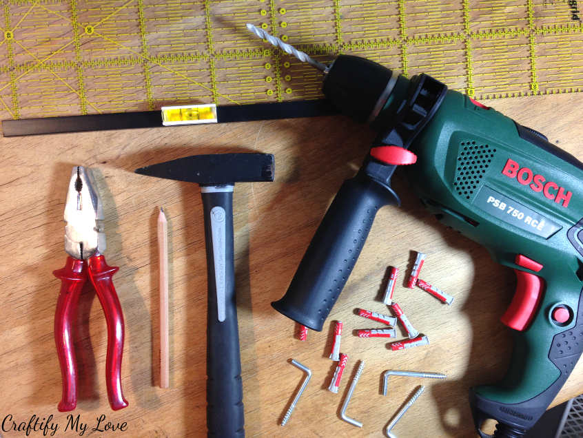 Tools you need to upcycle shelves into drawers