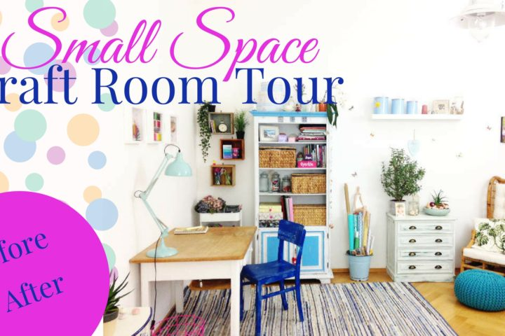 Take a tour with me through my small space craft corner and get inspired as how you can organize and decorate your happy place