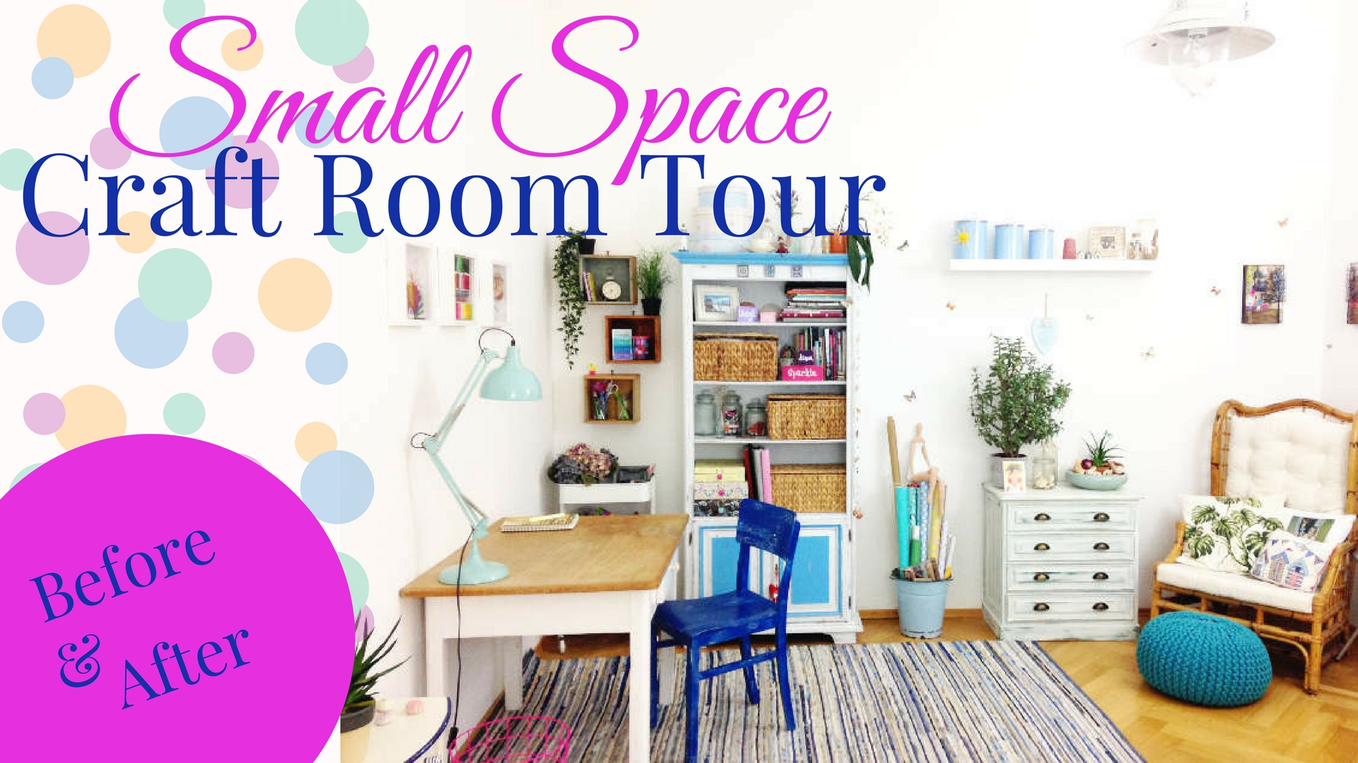 Take A Tour With Me Through My Small Space Craft Corner And Get Inspired As How