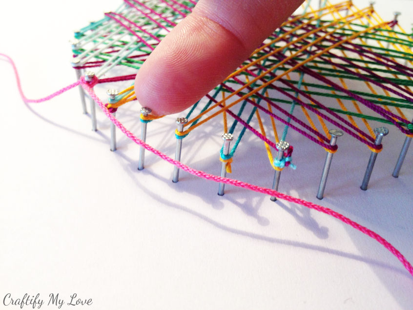 string art tutorial how to add a boarder to your art work