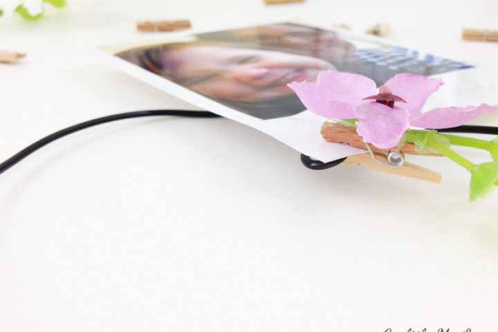 learn how to make easy flower pegs for your photo board