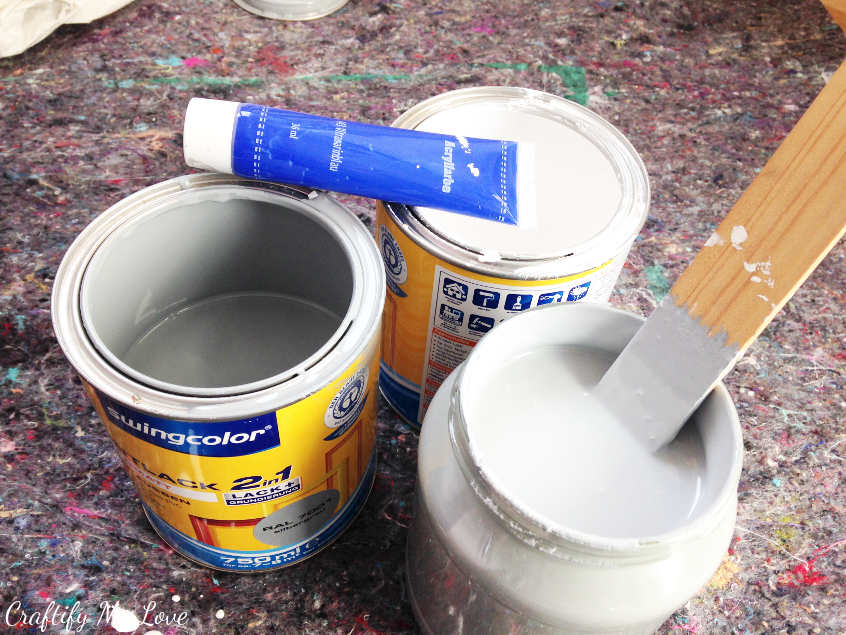 supplies you'll need to create your own individual color hue as a base for homemade chalk paint