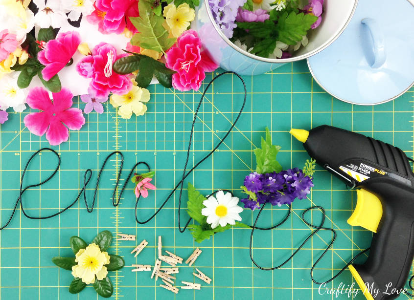 supplies needed to make super easy wooden DIY photo board pegs