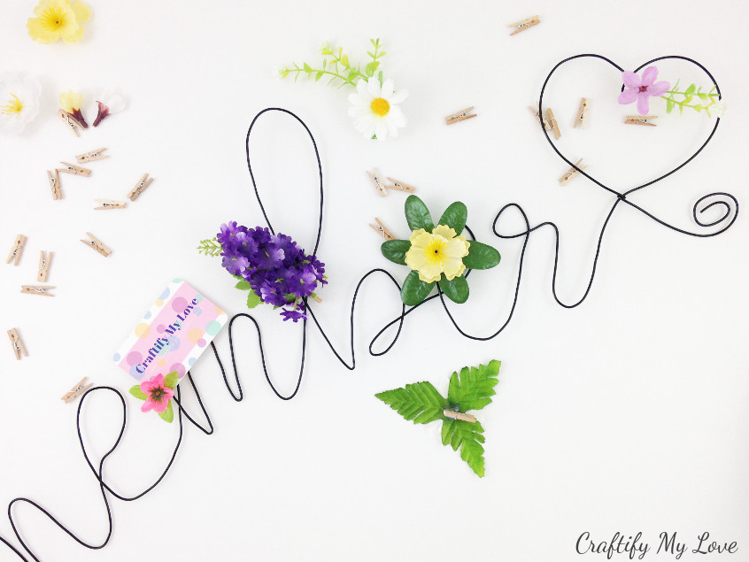 epicycle clothespins into unique floral pegs for your pin board memo board photo board or command center