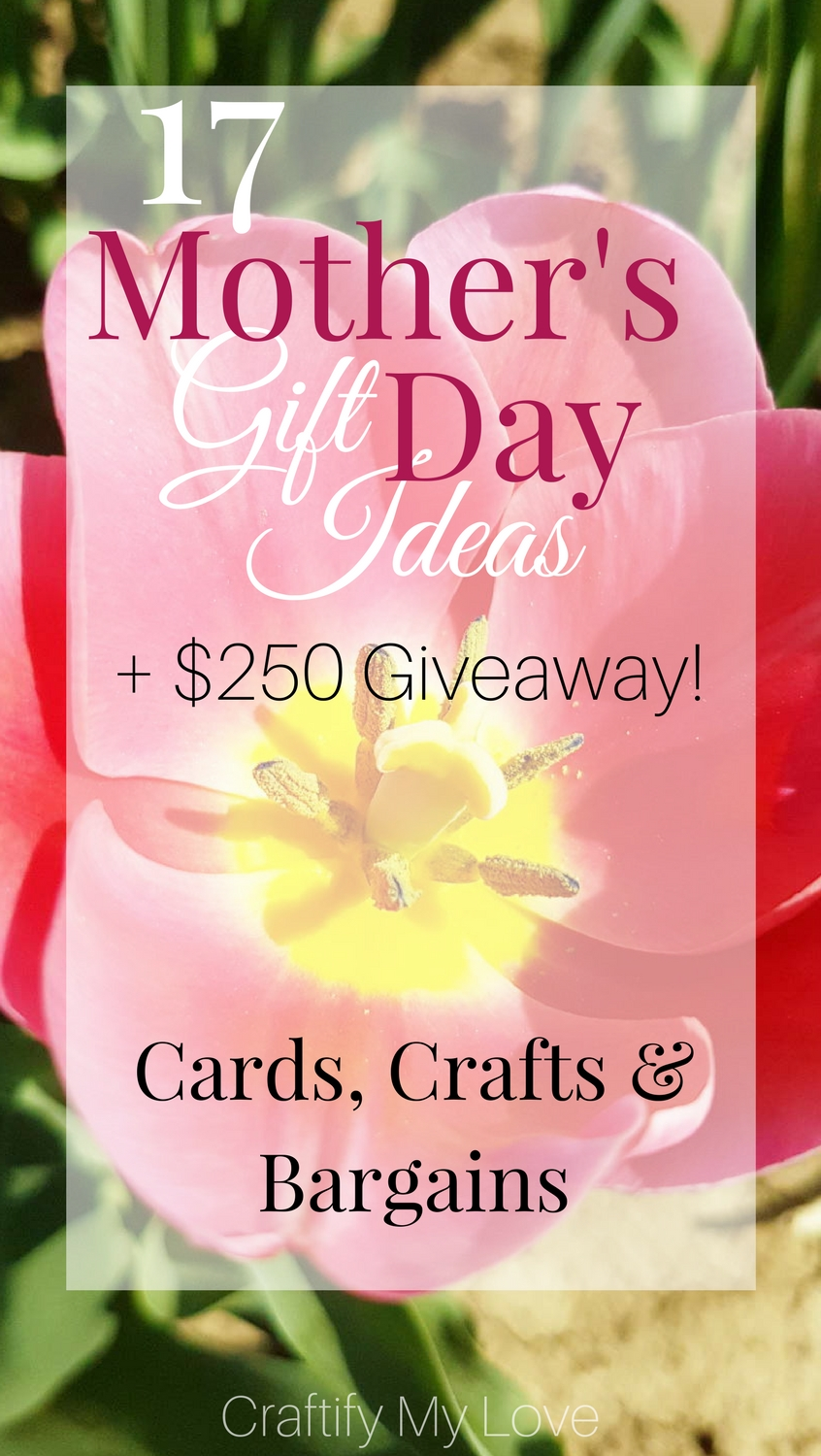 It doesn't matter if you want to DIY something for your mom or want to get her something extraordinary for a bargain. You'll find it in this epic Mother's Day Gift Guide. Also, don't miss out on a chance to win $ 250 in this Mother's Day Giveaway | #giveaway #mothersday #giftguide #diy #cardmaking #crafts #shoppingideas