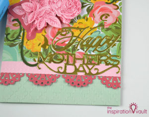 Handmade embossed Mother's Day card by The Inspiration Vault
