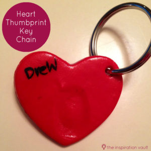 Heart Thumbprint Key Chain by Marie from The Inspiration Vault