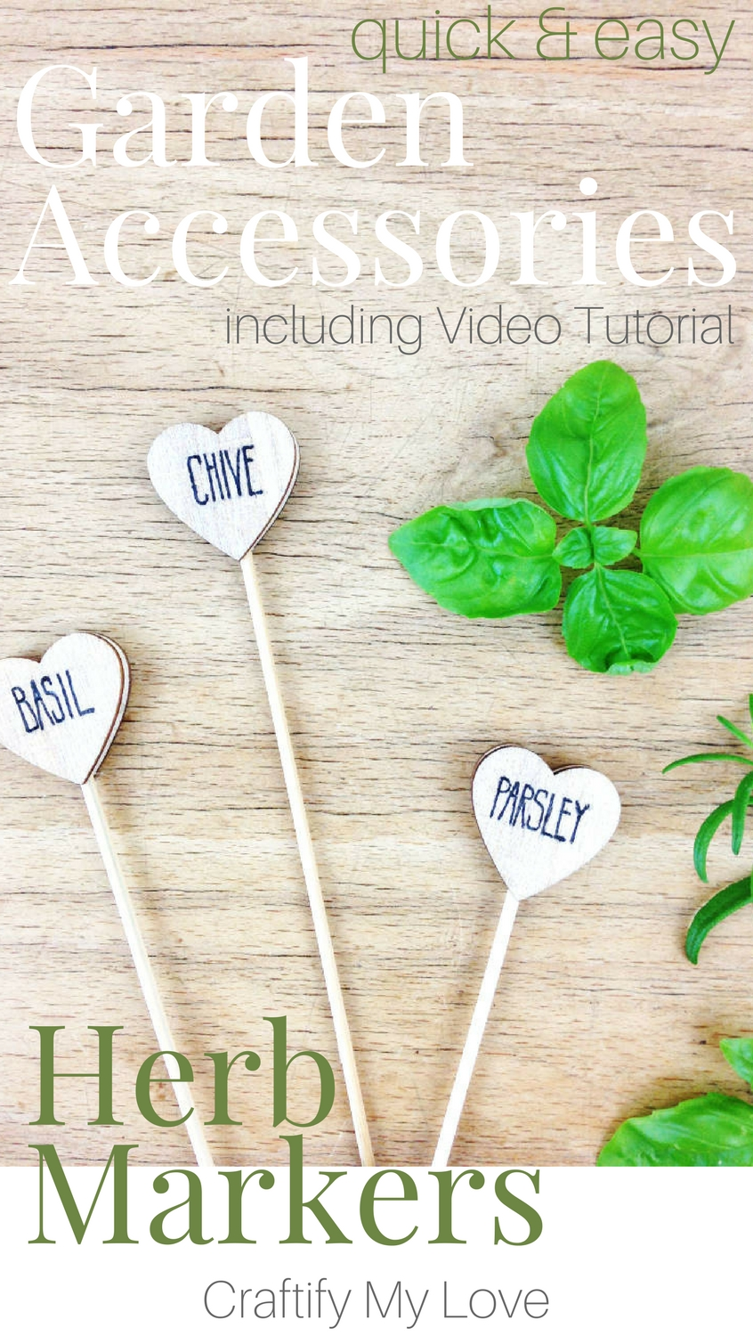 These DIY plant markers are a super easy crafts project for your herb garden! I'm so glad I had this idea s they make excellent little gifts for Mother's Day or when you're invited to your friends house. Click now for a simple step-by-step instructions including video tutorial! | #gardenDIY #herbmarkers #giftidea #simplecrafts #MothersDay