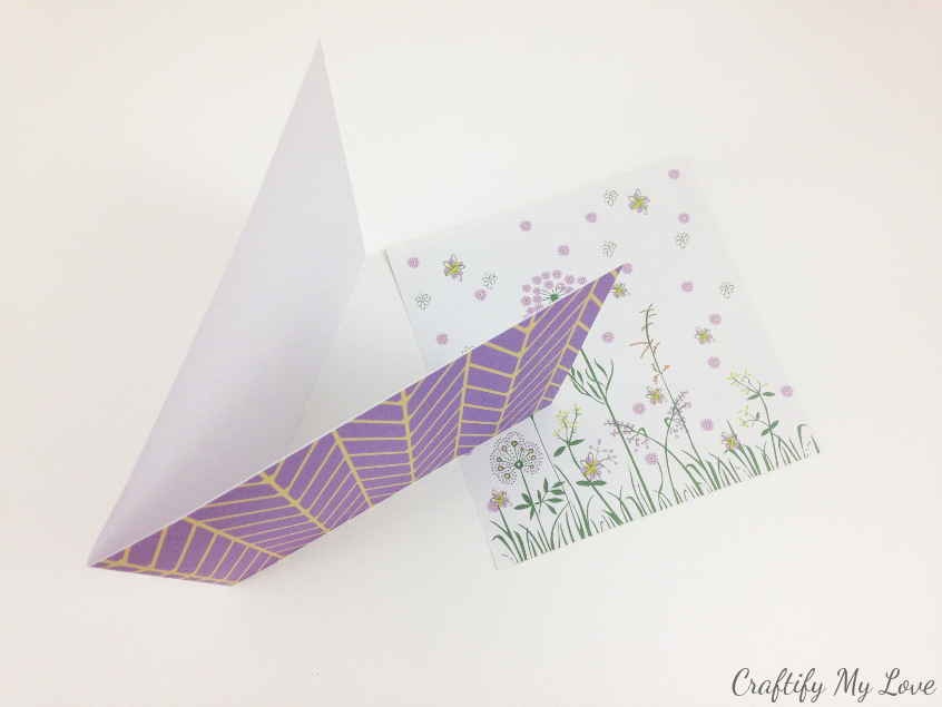 simple two piece handmade diy mother's day card tutorial