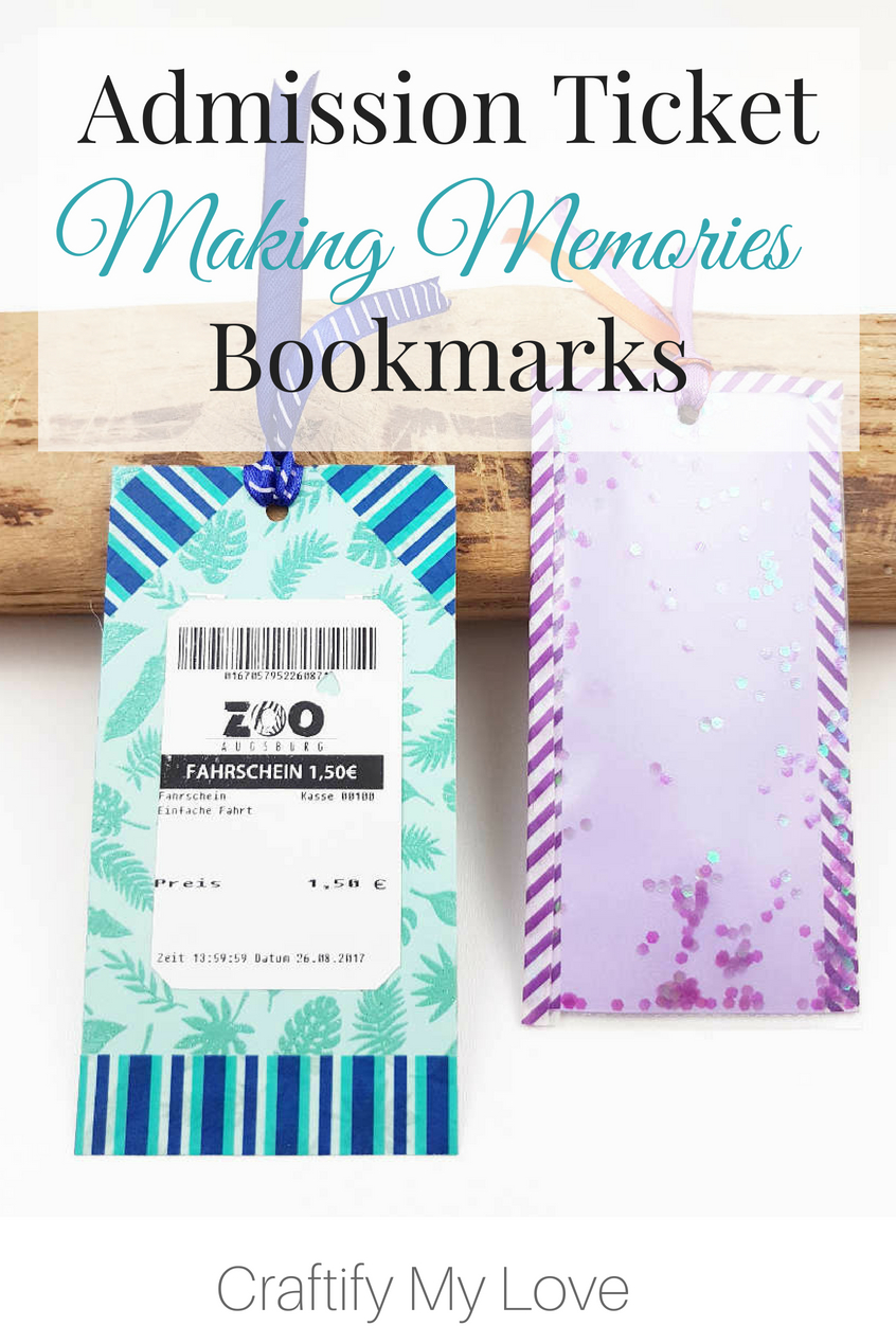 Learn how to make a keepsake for a wonderful memory by crafting bookmarks from admission tickets. I will always cherish the memory I made with my goddaughter when I got total her to the zoo for the first time. #bookmark #keepsake #diybookmark #kidscraft #summercraft #summerfun