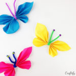 colourful paper butterflies insects that are a fun kids activity or a childs first crafting projects